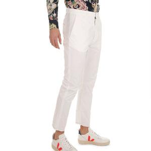 """PENCE – Pantalone """"baldo"""" in cotone colore Bianco"""